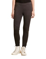Lauren Ralph Lauren Paneled Stretch Cotton Leggings Dark Grey
