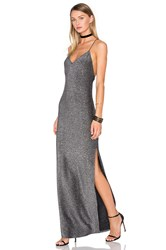 House Of Harlow X Revolve Rae Cross Back Dress Metallic Silver