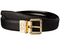 Cole Haan 25Mm Saffiano To Patent Feather Edge Reversible Belt Black Women's Belts