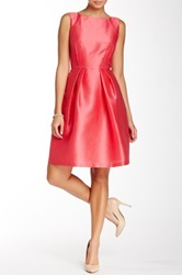 Carmen Marc Valvo Textured Dress Pink