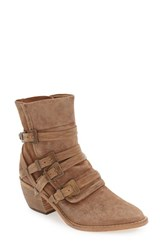 Free People Women's 'Mason' Western Bootie Natural Leather