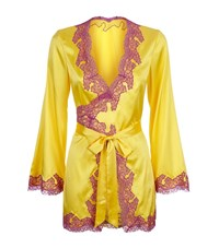 Agent Provocateur Lucie Silk Gown Female Yellow