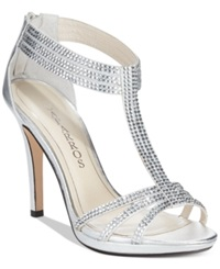Caparros Maddy Eveining Sandals Women's Shoes Silver Metallic
