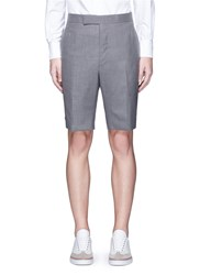 Thom Browne Super 120S Wool Shorts Grey