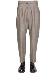 Giorgio Armani 19Cm Pleated Wool And Silk Sable Pants