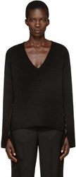 Helmut Lang Black V Neck Sweater