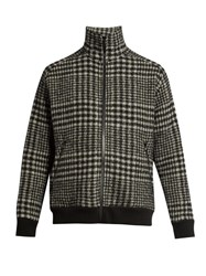 Raey 1970S Zip Through Hound's Tooth Checked Jacket Black