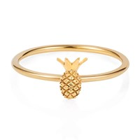 Lee Renee Tiny Pineapple Ring Gold Vermeil