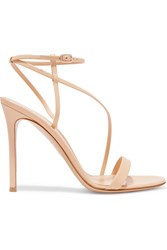 Gianvito Rossi Leather Sandals Beige