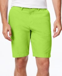Tommy Hilfiger Men's Classic Fit Chino Shorts Lime Green