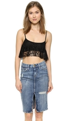 Love Sadie Lace Crop Top Black