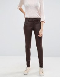 Only Olivia Coated Waxed Jeans Black