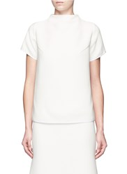 Maticevski 'Maximal' Funnel Neck Tunic Top White
