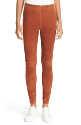 Theory Women's Navalane L Back Zip Leather Pants