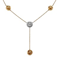 Damiani Bocciolo 18K Rose Gold And Diamond Y Necklace