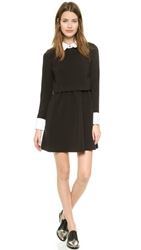 Rachel Zoe Onyx Collared Fit And Flare Dress Black