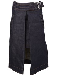Sacai A Line Open Denim Skirt Blue