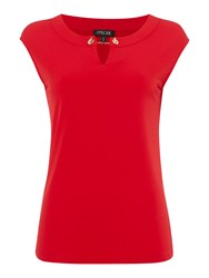 Episode Short Sleeve Jersey Top With Chain Link Red