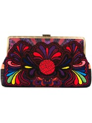 Sarah's Bag Paisley Embroidery Clutch