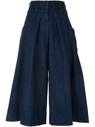 J.W.Anderson Cropped Palazzo Pants Blue