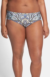 Becca Etc 'Festival' Shirred Side Hipster Bikini Bottoms Plus Size