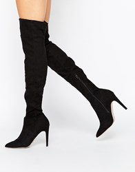 Lipsy Karen Over The Knee Boots Black
