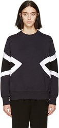 Neil Barrett Navy Double Modernist Sweatshirt