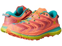 Hoka One One Speedgoat Neon Coral Aqua Women's Running Shoes Orange