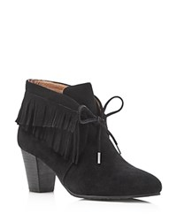 Gentle Souls Bettie Fringe High Heel Booties Black