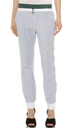 Alexander Wang French Terry And Nylon Sweatpants White