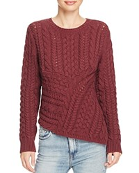 360 Sweater Asymmetric Chunky Cable Port