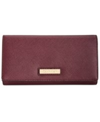 Calvin Klein Saffiano Leather Wallet Rum Raisin