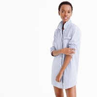 J.Crew Classic Nightshirt In Striped Vintage End On End Cotton