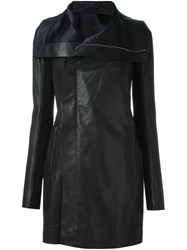 Rick Owens Biker Coat Black
