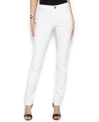 Inc International Concepts Petite Skinny Jeans White Wash
