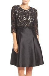 Eliza J Women's Mixed Media Popover Fit And Flare Dress