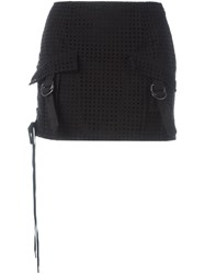 Anthony Vaccarello Lace Up Skirt Black