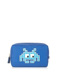 Anya Hindmarch Space Invaders Make Up Pouch Blue