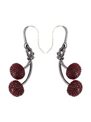 Marc By Marc Jacobs 'Pave Cherry' Earrings Red