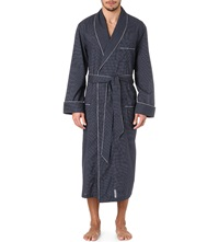 Derek Rose Plaza 21 Col B Spot Dressing Gown Nywh Navy Whte