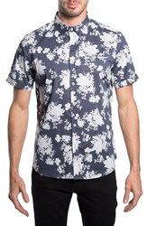 7 Diamonds Men's 'Better Place' Trim Fit Floral Short Sleeve Woven Shirt
