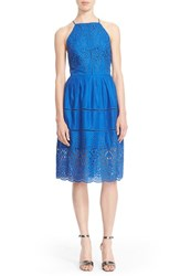 Women's Parker 'Alana' Eyelet Embroidered Cotton Fit And Flare Dress Glacius