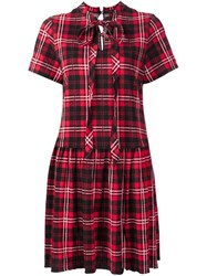 Marc Jacobs Plaid Print Dress Red
