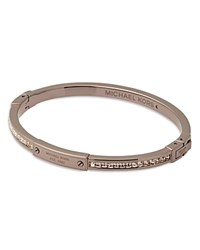 Michael Kors Industrial Jeweled Bangle Bracelet Rose Gold