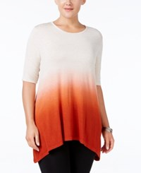 Styleandco. Style Co. Plus Size Ombre Tunic Only At Macy's Sienna Orange