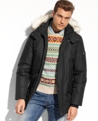 Buffalo David Bitton Coat Faux Fur Trimmed Hooded Performance Parka