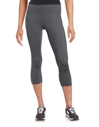 Calvin Klein Mesh Panelled Capri Leggings Charcoal Black