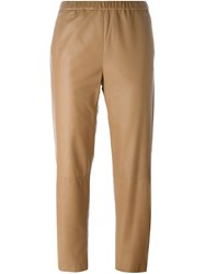 Drome Leather Trousers Nude And Neutrals