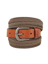 White Stuff Elastic Leather Belt Khaki