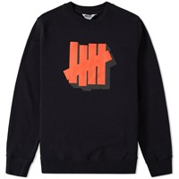 Undefeated Shadowed Strike Crew Sweat Black